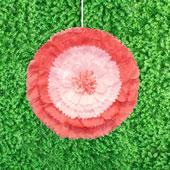 """20"""" TISSUE STARBURST FLOWERS-PC (Coral)"""