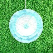 """20"""" TISSUE STARBURST FLOWERS-PC (Blue)"""