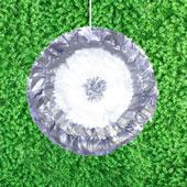 "20"" METALLIC TISSUE STARBURST FLOWERS-PC (Silver)"