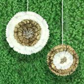"""12"""",16"""" METALLIC TISSUE STARBURST FLOWERS-2 PCS/SET (Gold)"""