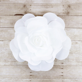 """20"""" DECORATIVE WALL FLOWER-PC (White)"""