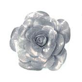 "20"" DECORATIVE METALLIC WALL FLOWERS-PC (Silver)"