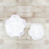 "12"",16"" DECORATIVE WALL FLOWERS-2 PCS/SET (White)"