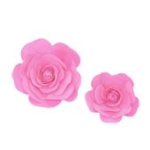 "12"",16"" DECORATIVE WALL FLOWERS-2 PCS/SET (Hot Pink)"