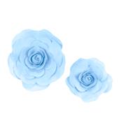 "12"",16"" DECORATIVE WALL FLOWERS-2 PCS/SET (Light Blue)"