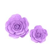 """12"""",16"""" DECORATIVE WALL FLOWERS-2 PCS/SET (Lavender)"""