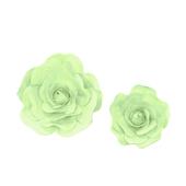 "12"",16"" DECORATIVE WALL FLOWERS-2 PCS/SET (Mint Green)"