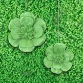 "12"",16"" TISSUE SCALLOP FLOWERS-2 PCS/SET (Mint Green)"