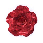 "20"" DECORATIVE METALLIC WALL FLOWERS-PC (Metallic Red)"