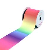 """3"""" GROS-GRAIN RAINBOW OMBRE-10 YDS (Light Rainbow)"""