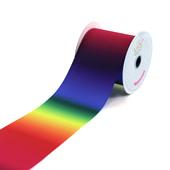 """3"""" GROS-GRAIN RAINBOW OMBRE-10 YDS (Dark Rainbow)"""