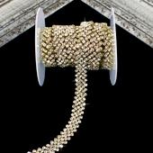 "5/8"" JAGGED RHINESTONE CHAIN-3 YDS (Gold)"