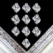 "1"" BEJEWELED RHINESTONE ACCESSORIES-10 PCS (Silver)"