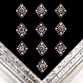 "1"" DIAMOND FRAME RHINESTONE ACCESSORIES-10 PCS (Silver)"