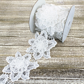 """4 3/4"""" CLASSIC LARGE FLOWER LACE-5 YDS (White)"""