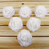 "3 1/2"" DECORATIVE FOAM FLOWERS-6 PCS (White)"