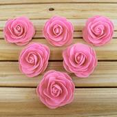 "3 1/2"" DECORATIVE FOAM FLOWERS-6 PCS (Pink)"