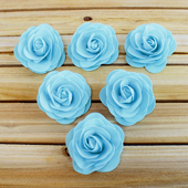 "3 1/2"" DECORATIVE FOAM FLOWERS-6 PCS (Light Blue)"