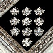 "1 1/8"" BLAZING GEMS RHINESTONE ACCESSORIES-10 PCS (Silver)"