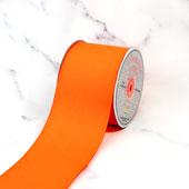 "3"" Grosgrain Ribbon - 25 Yards (Neon Orange)"