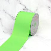"3"" Grosgrain Ribbon - 25 Yards (Neon Green)"