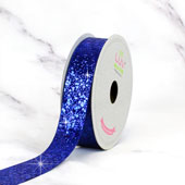 "7/8"" SPARKLY SEQUINS RIBBON-10 YDS (Royal Blue)"