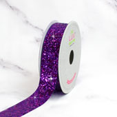 "7/8"" SPARKLY SEQUINS RIBBON-10 YDS (Purple)"