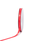 """3/8"""" Double Face Picot Ribbon - 50 Yards (Coral)"""