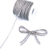 3mm 2 Ply Twist Cords - 25 Yards (Silver)