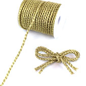 6mm 2 Ply Twist Cords - 25 Yards (Gold)