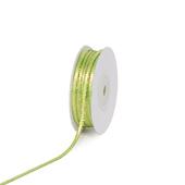 "1/8"" Satin with Gold Edge Ribbon - 50 Yards (Apple Green)"