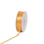 "1/8"" Satin with Gold Edge Ribbon - 50 Yards (Light Gold)"
