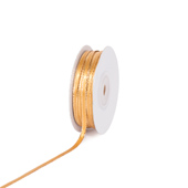 """1/8"""" Satin with Gold Edge Ribbon - 50 Yards (Antique Gold)"""