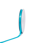 """3/8"""" Double Face Picot Ribbon - 50 Yards (Turquoise)"""