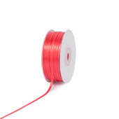 """1/8"""" Double Face Satin Ribbon - 100 Yards (Coral)"""
