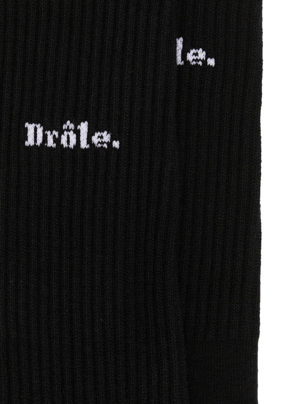 LOGO SOCKS DROLE DE MONSIEUR | Socks | FW20-SK002-BLBLACK