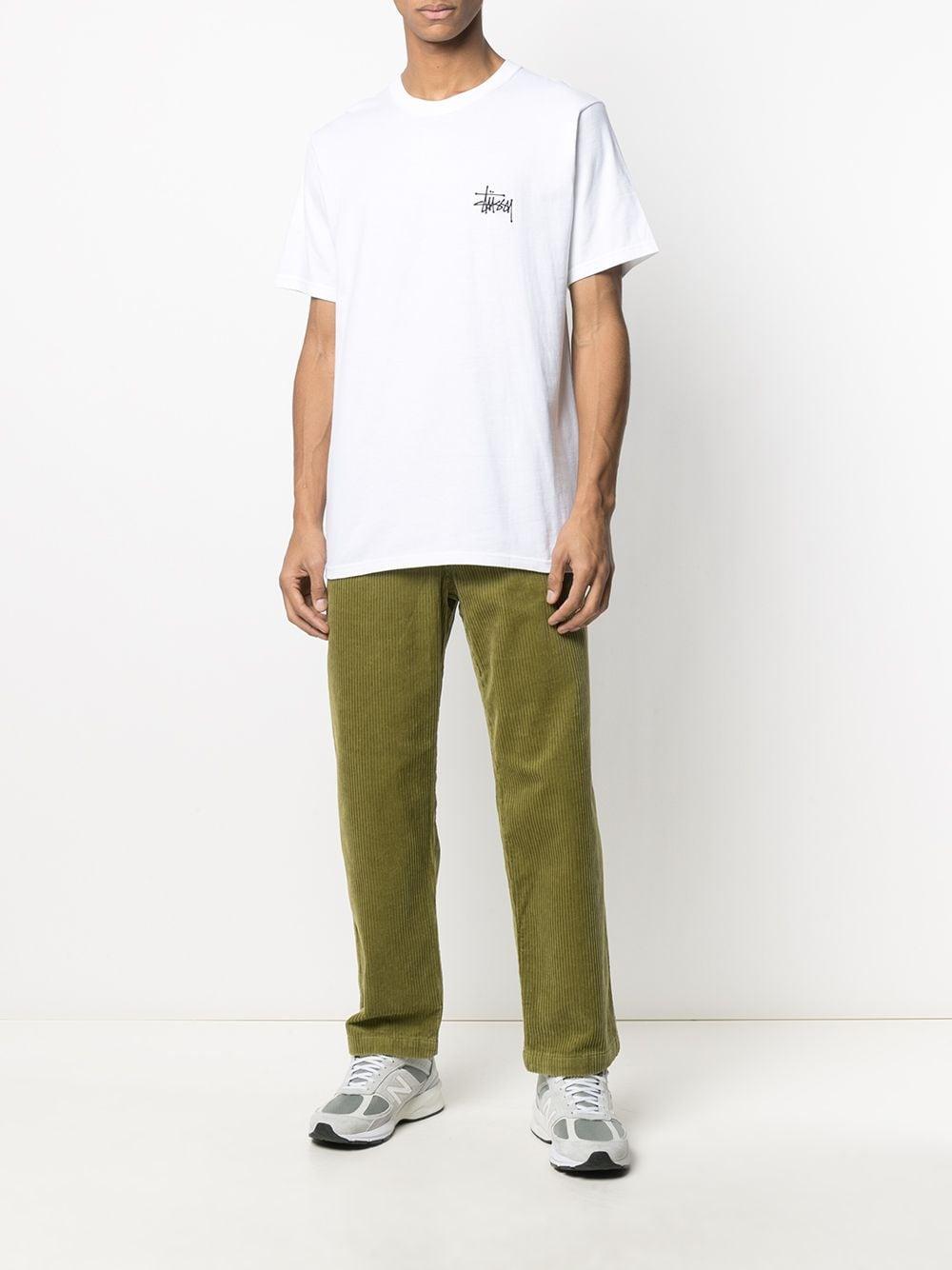 T-SHIRT CON LOGO STUSSY   T-shirt   1904615WHITE