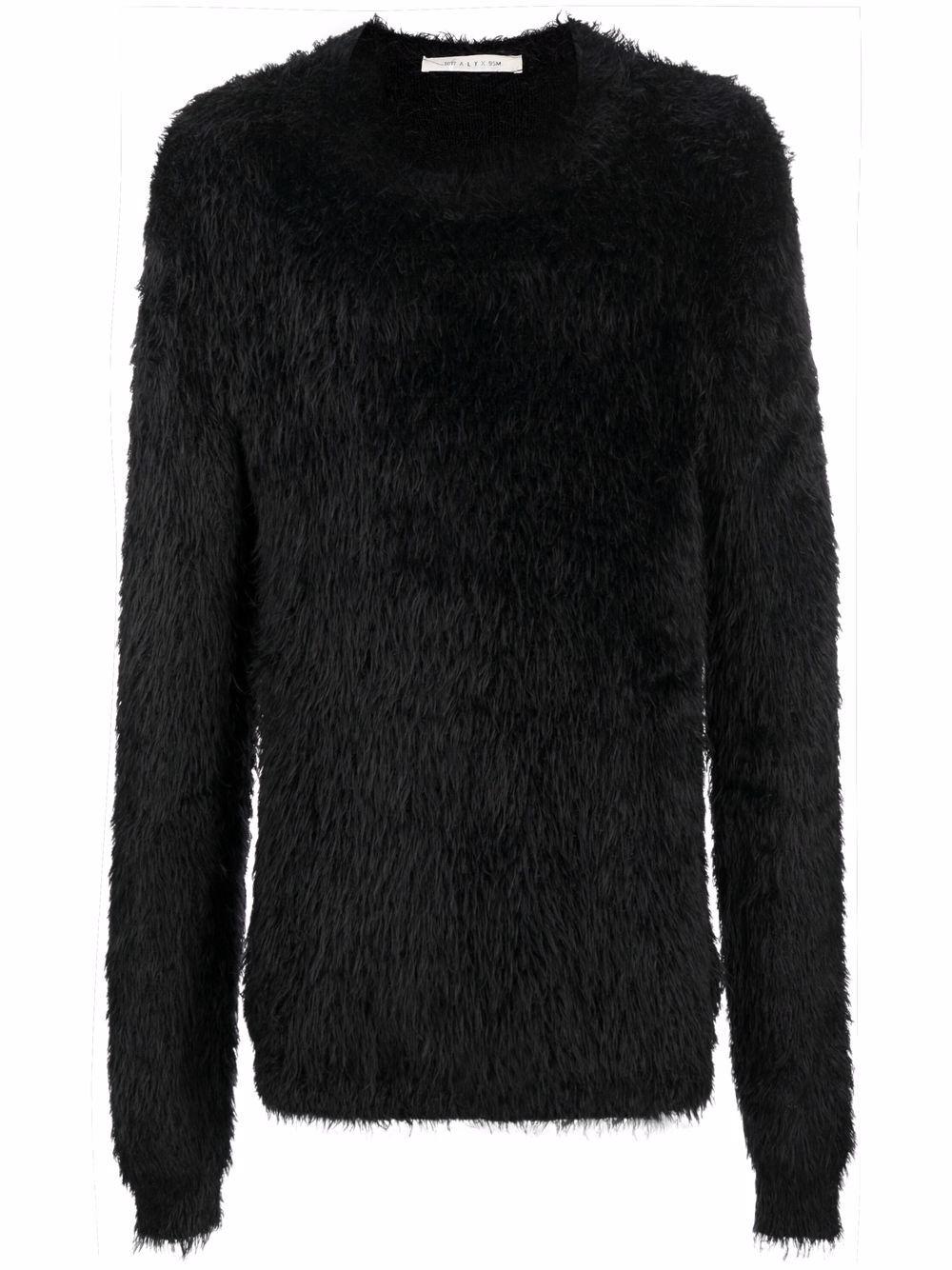 maglione a girocollo uomo nero 1017 ALYX 9SM | Maglieria | AAUKN0106YA01BLK001