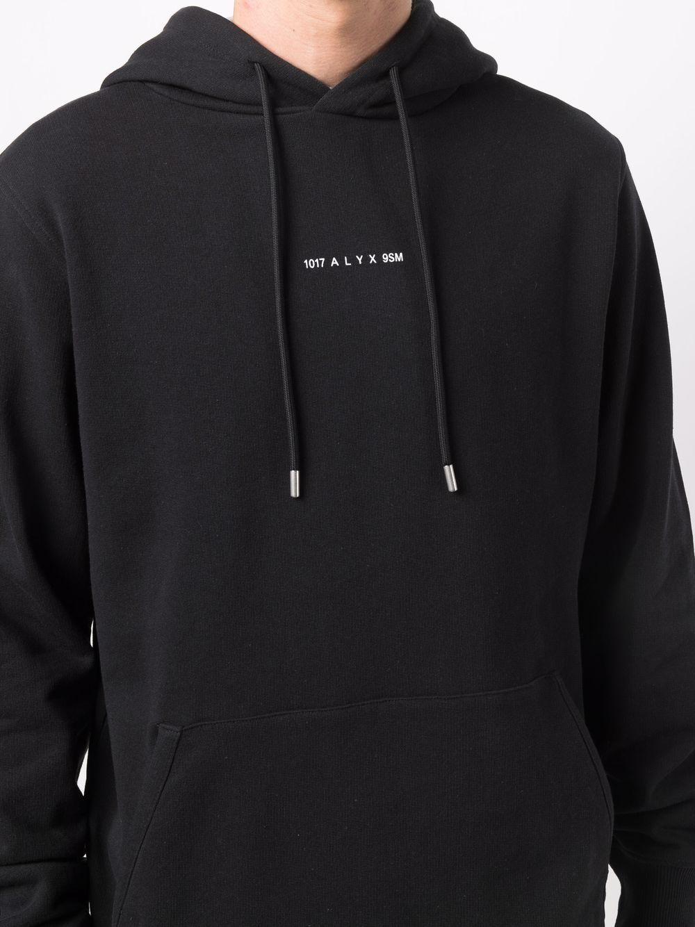 felpa con logo uomo nera in cotone 1017 ALYX 9SM | Felpe | AVUSW0009FA02BLK001