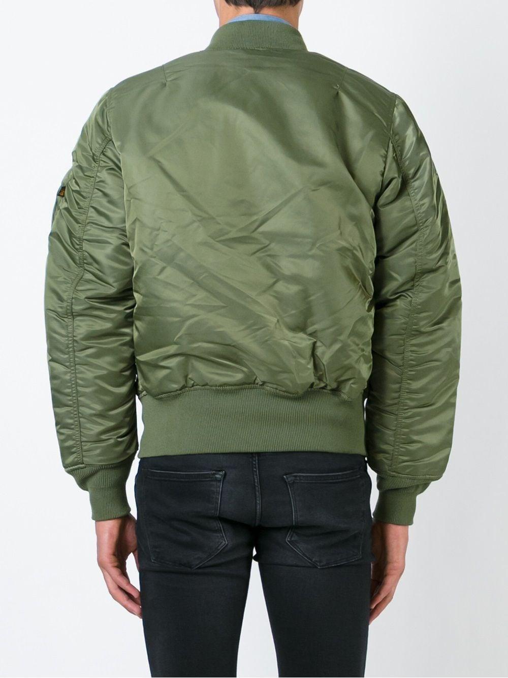giacca ma1 uomo verde in nylon ALPHA INDUSTRIES   Giacche   10010101