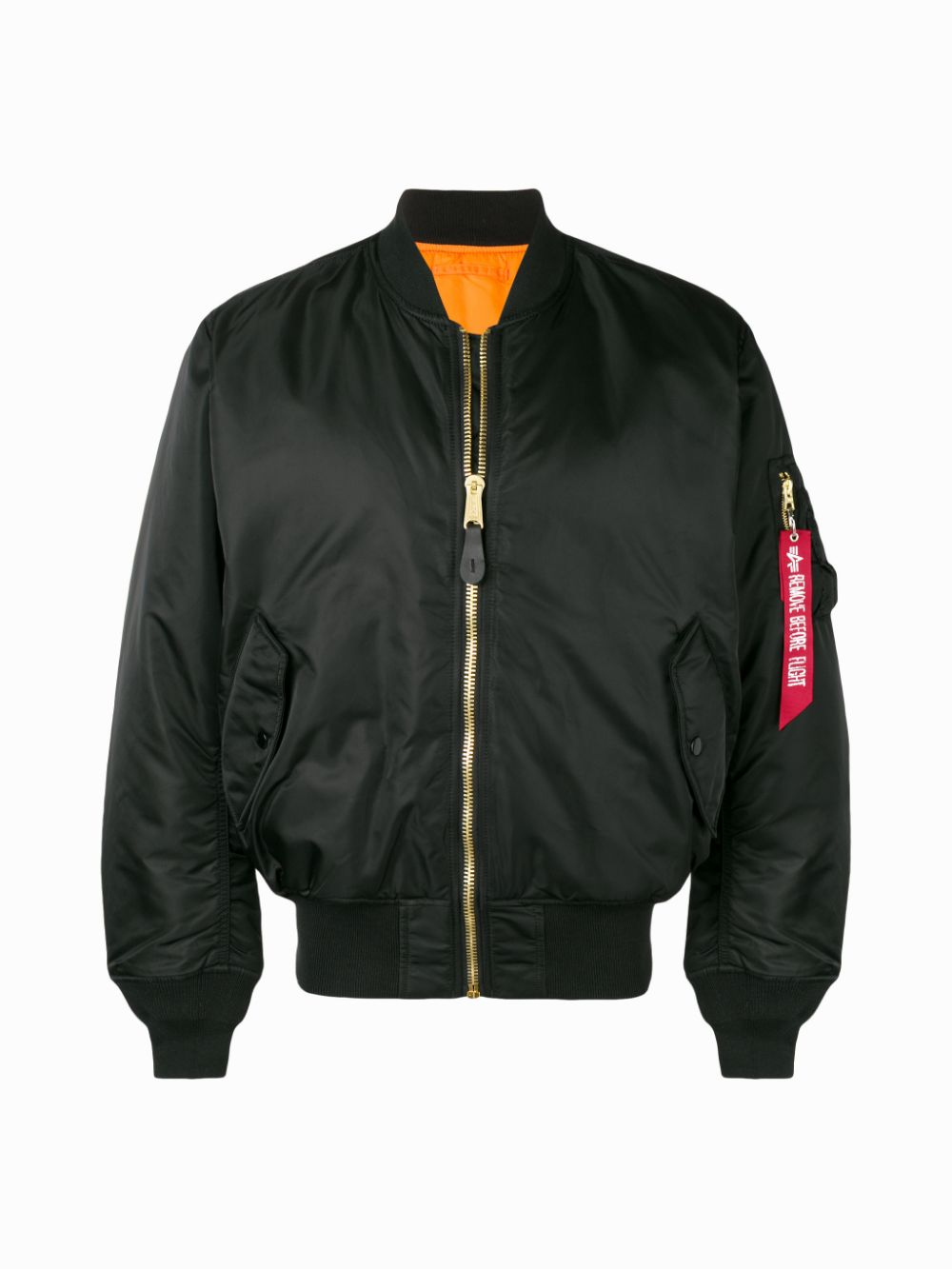 giacca ma1 unisex nera in nylon ALPHA INDUSTRIES   Giacche   10010103