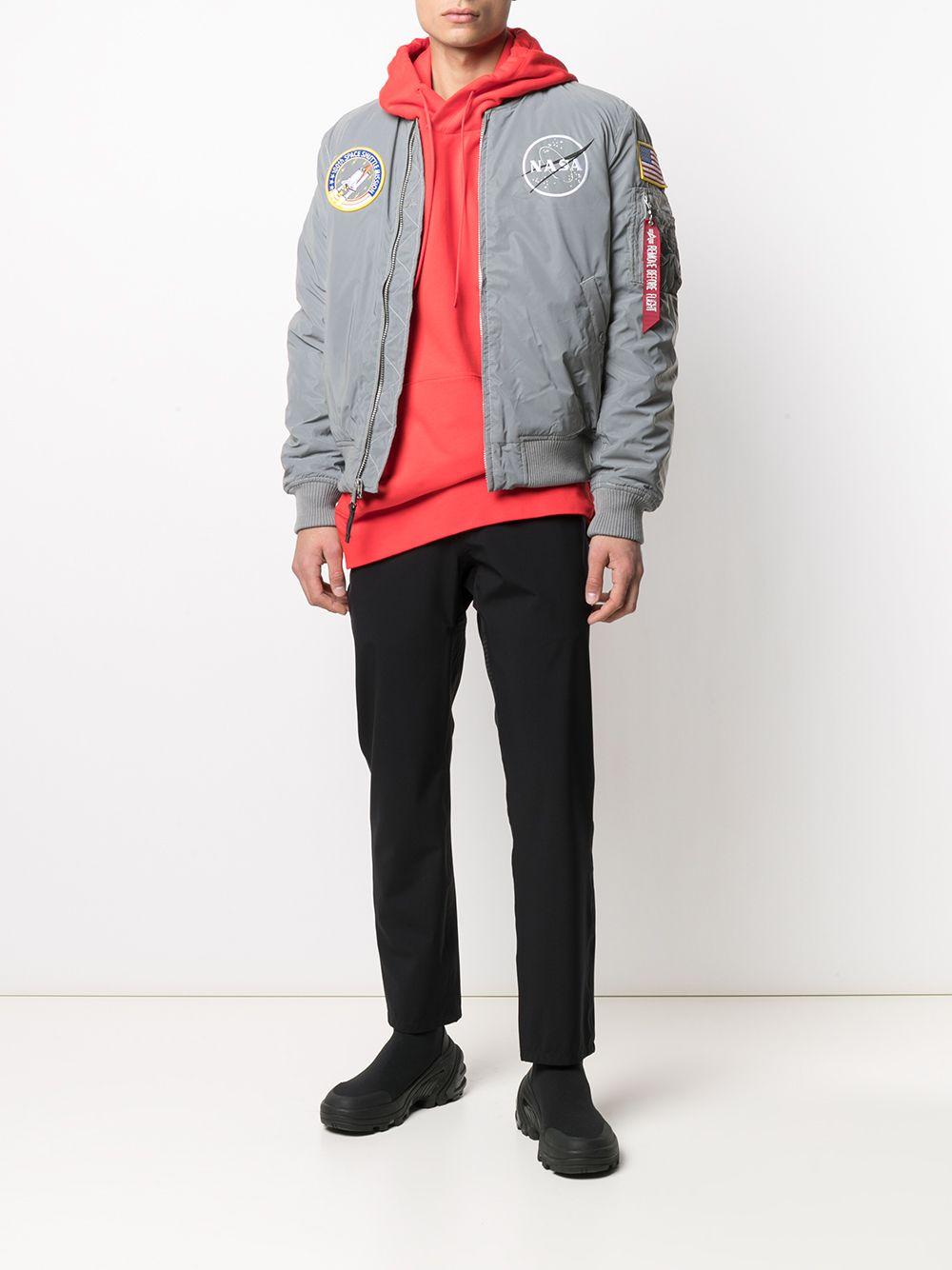 ma 1 jacket reflective man gray ALPHA INDUSTRIES   Jackets   128112571