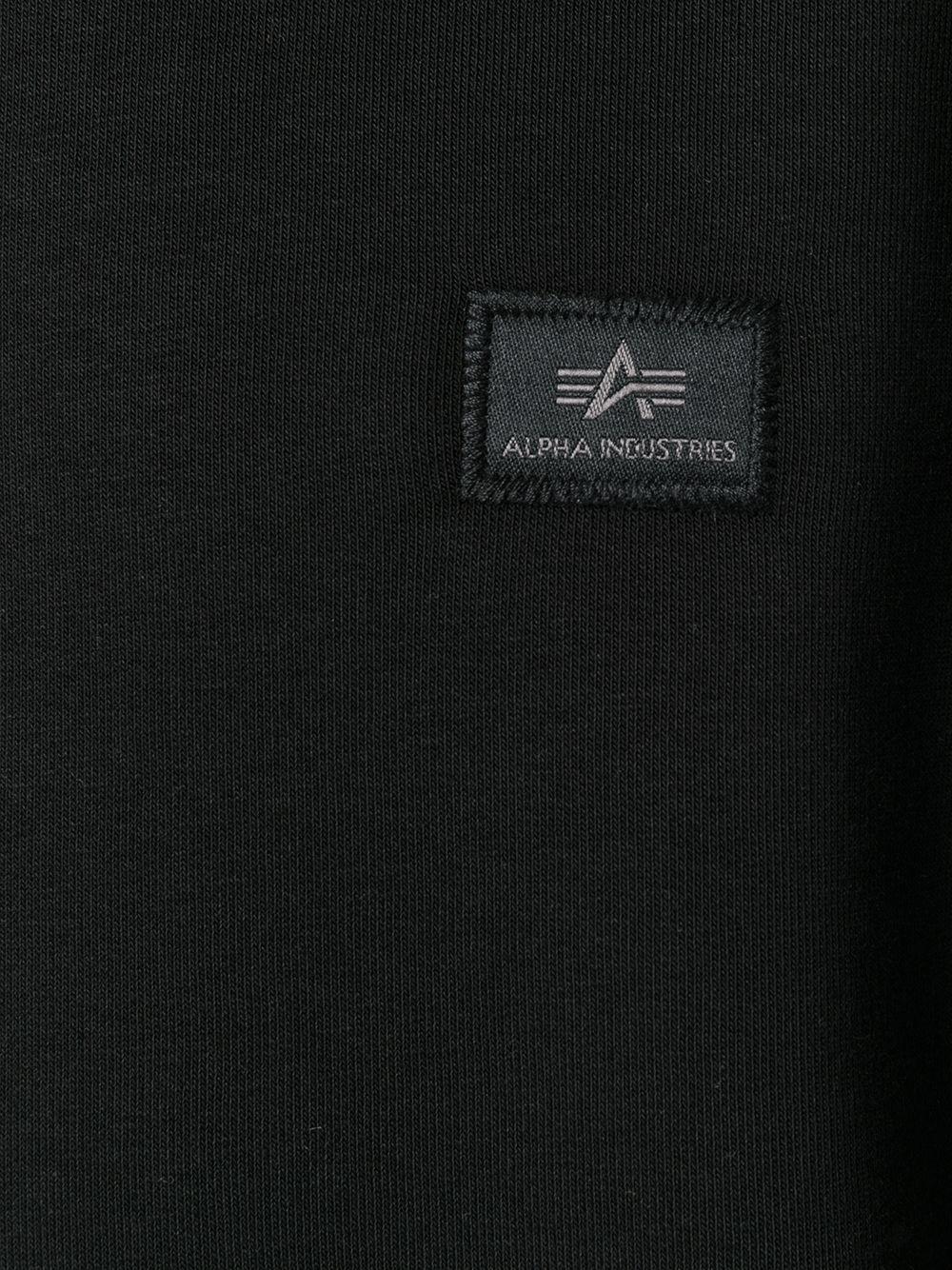 felpa a girocollo uomo nera in cotone ALPHA INDUSTRIES | Felpe | 15832003