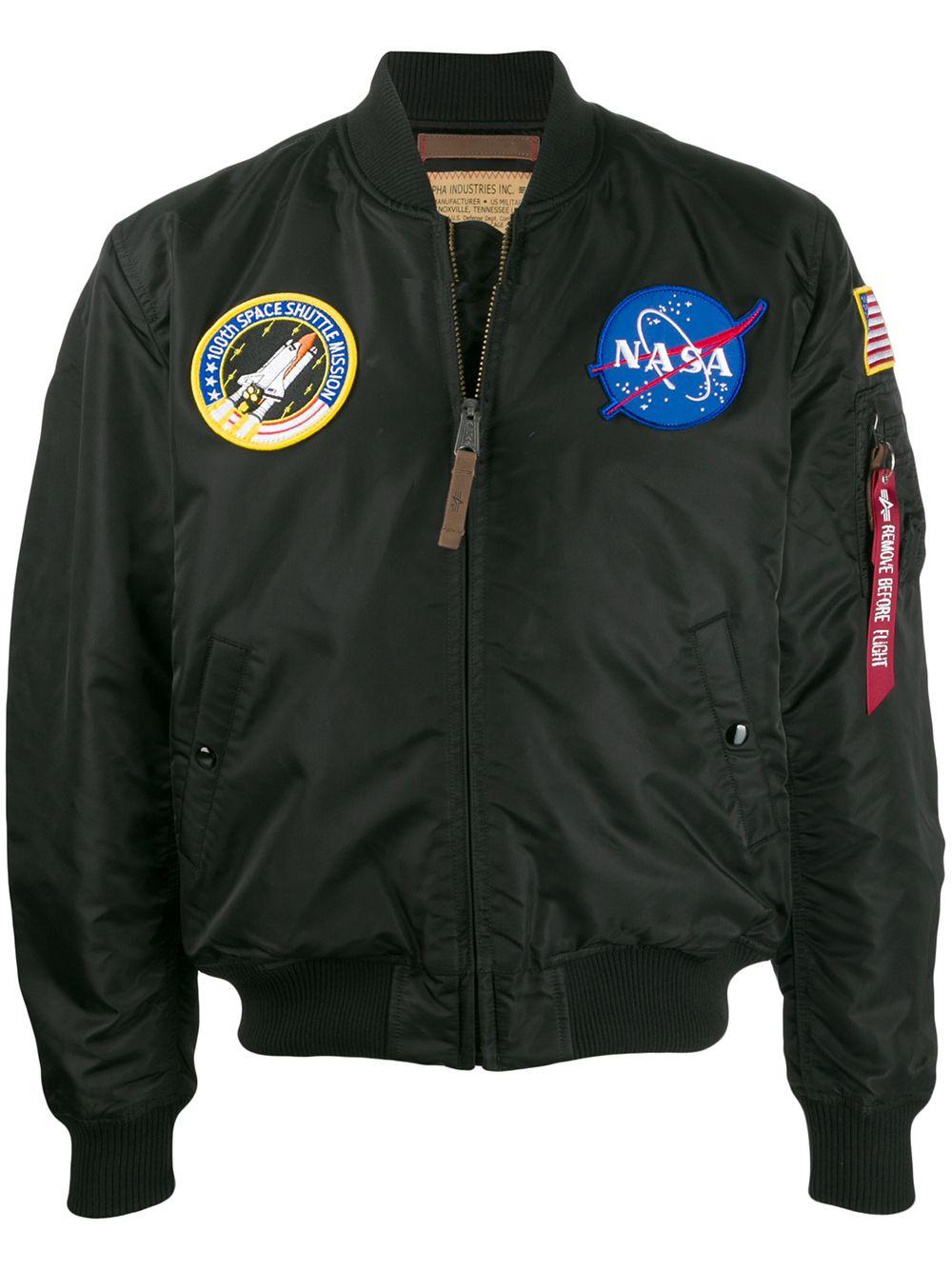 ma1 vf nasa jacket man blue in nylon ALPHA INDUSTRIES | Jackets | 16610703