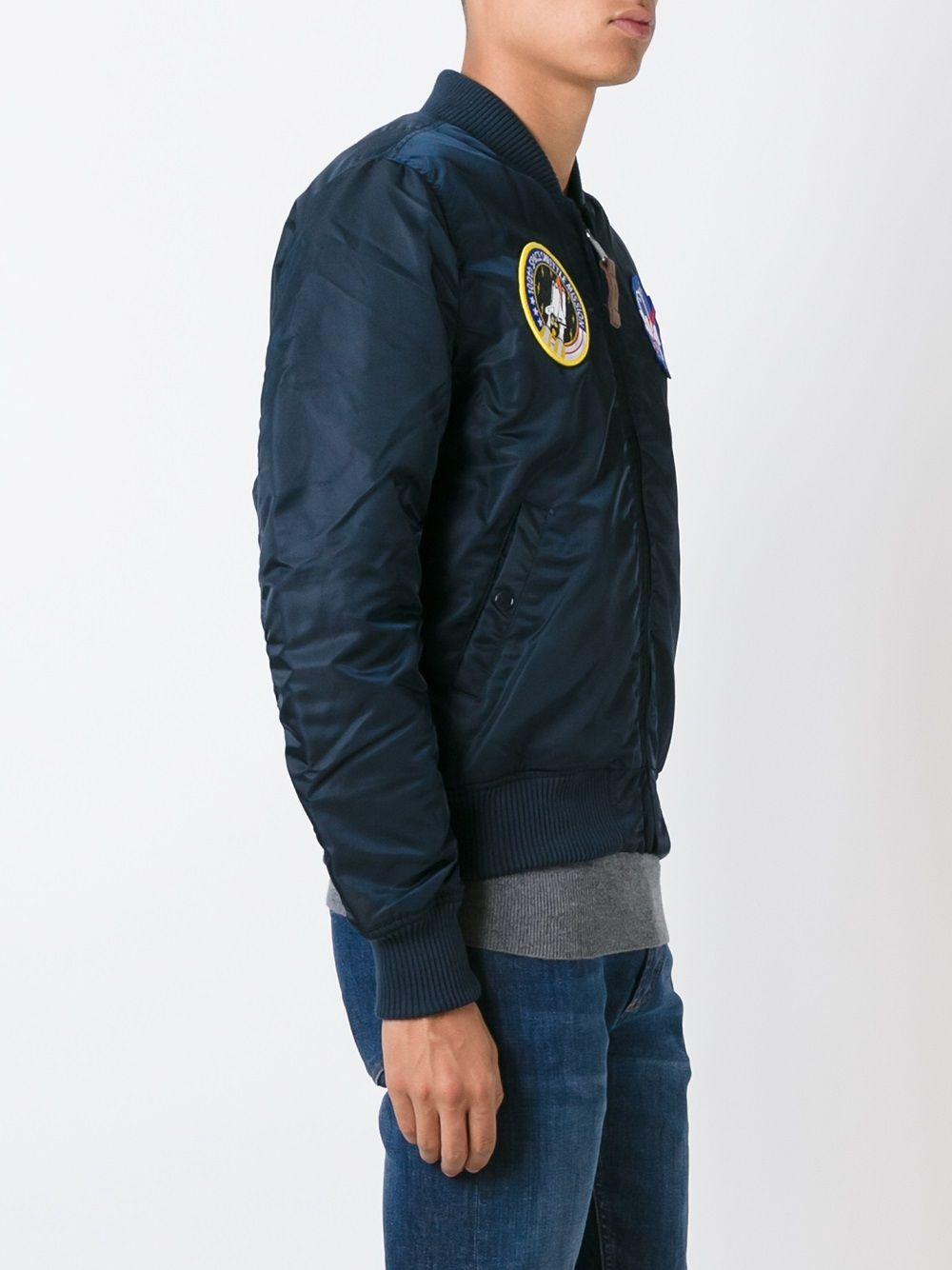 giacca ma1 vf nasa uomo blu in nylon ALPHA INDUSTRIES | Giacche | 16610707