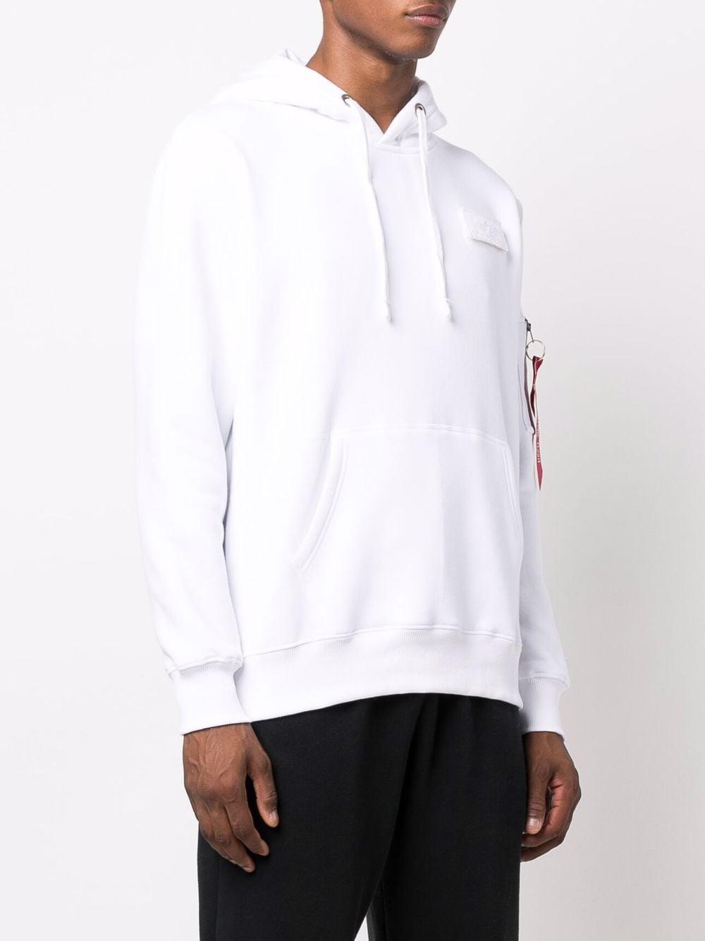 felpa con cappuccio uomo bianca in cotone ALPHA INDUSTRIES | Felpe | 17831409