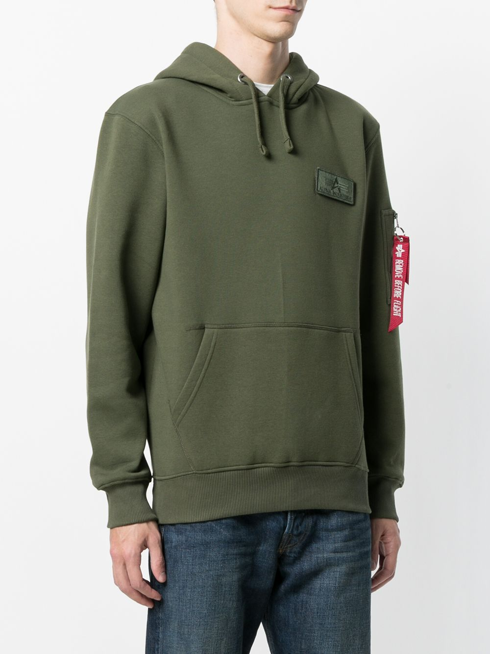 hoodie man green in cotton ALPHA INDUSTRIES | Sweatshirts | 178314257