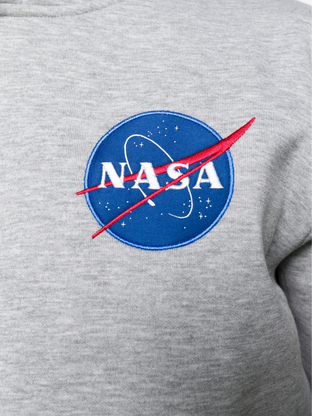 logo hoodie man gray in cotton ALPHA INDUSTRIES | Sweatshirts | 17831717