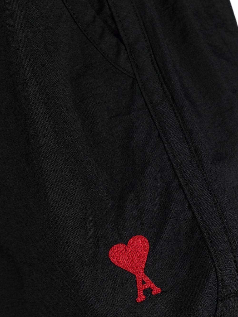 Ami Swimshort Black Man  AMI - ALEXANDRE MATTIUSSI   Swimwear   A21HBW01.393001