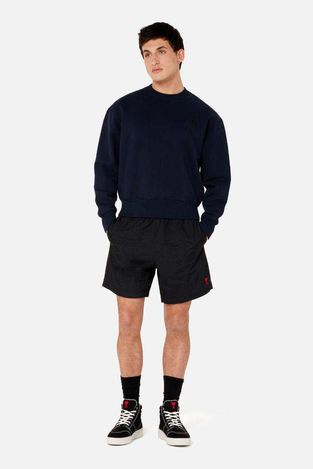 Swimsuit Black Man AMI - ALEXANDRE MATTIUSSI | Swimwear | A21HBW03.393001